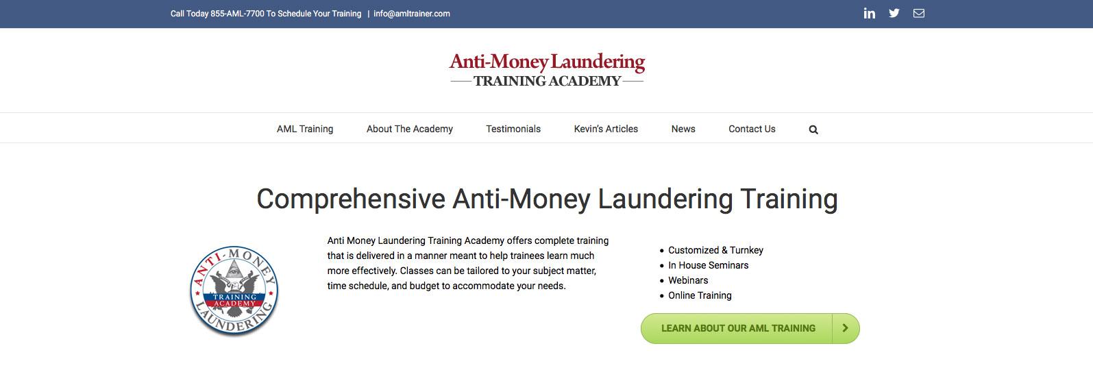 Anti Money Laundering Training Academy Selane Productions